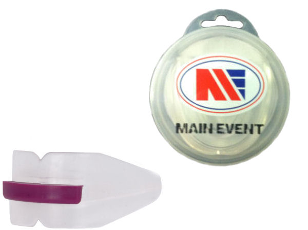 Main Event Boxing Double Gumshield Mouthguard - Clear with Case